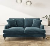 Blue 2 Seater Sofas.