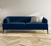 Blue 3 Seater Sofas.