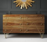 Brown Large Chest of Drawers.