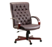 Brown Leather Office Chairs.