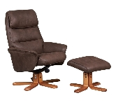 Brown recliner armchairs
