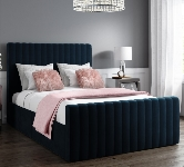 Blue Double Velvet Beds