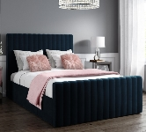 Blue Upholstered Double Beds