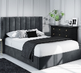 Grey Upholstered Ottoman Beds
