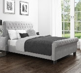 Grey Sleigh Beds.
