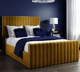 Yellow Double Velvet Beds