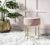 Pink Velvet Stools and Pouffes.
