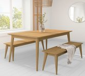 Extendable Wooden Dining Table and Chairs.
