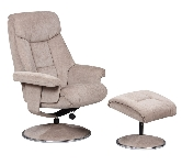 Fabric recliner armchairs