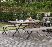 Brown Metal Garden Furniture