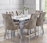 Glass 6 Seater Dining Sets