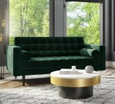 Green 2 Seater Velvet Sofas.