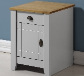 Grey 1 Drawer Bedside Table