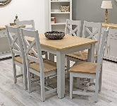 Grey 6 Seater Dining Sets