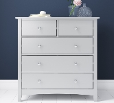 White Chest With 5 Drawers.