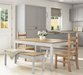 Grey Dining Tables With Bench