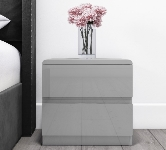 Grey Gloss Bedside Table