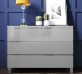 Grey Gloss Chest of Drawers