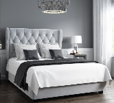 Grey Upholstered Double Beds