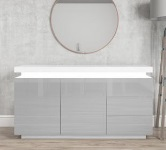 Grey Sideboards.