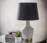 Grey Bedside Lamps.