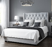 Grey Upholstered Beds.
