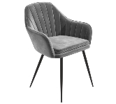Grey Velvet Dining Chairs