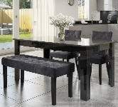 High Gloss 4 Seater Dining Sets