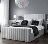 Upholstered King Size Grey Beds.