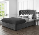King Size Grey Velvet Beds
