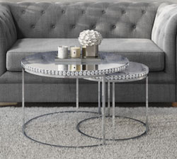 Mirrored Living Room Furniture