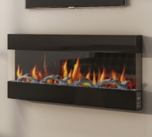 Mirrored Wall Mounted Fires