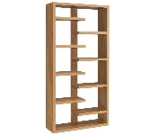 Oak bookcases and shelving units.