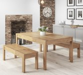Oak Dining Tables With Bench