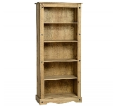 Pine bookcases and shelving units.