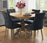 Round 4 Seater Extending Dining Sets