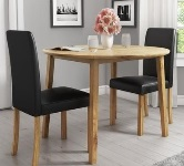 Oak Round Dining Table and Chairs