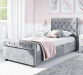 Single Grey Velvet Beds