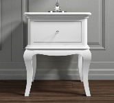 White 1 Drawer Bedside Table