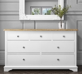 White Chest With 6 Drawers.
