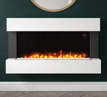 White Wall Mounted Fires