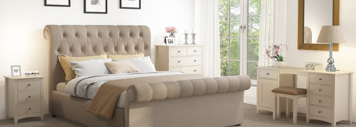 Emery Cream Bedroom Furniture Collection.