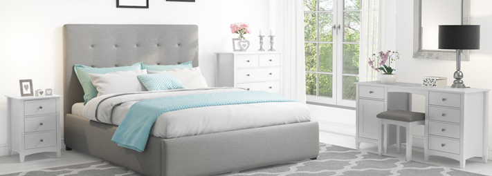 Finch Grey Bedroom Furniture Collection.