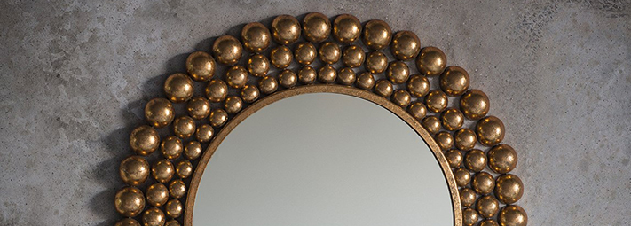 Gold-Framed Mirrors