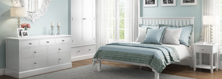 Harper White Bedroom Furniture Collection.