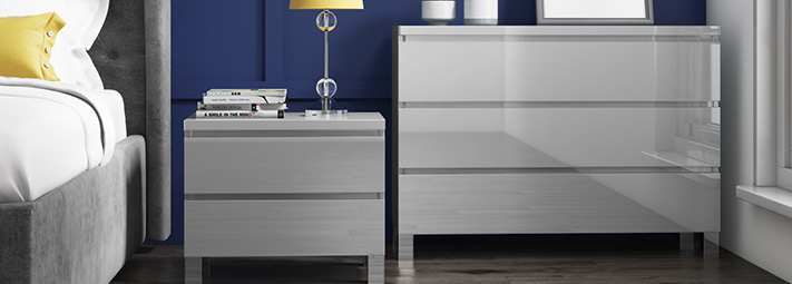 Jenson Grey Bedroom Furniture Collection.