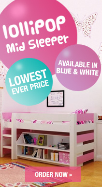 Lollipop Kids Mid sleeper bed
