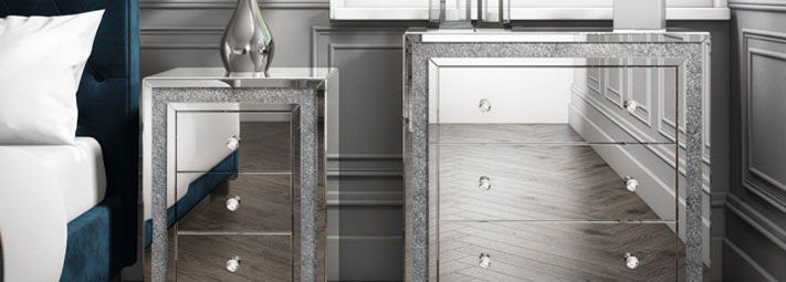 Mariah Mirrored Bedroom Furniture Collection.