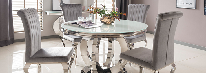 Glass And Mirrored Dining Collections Furniture 123