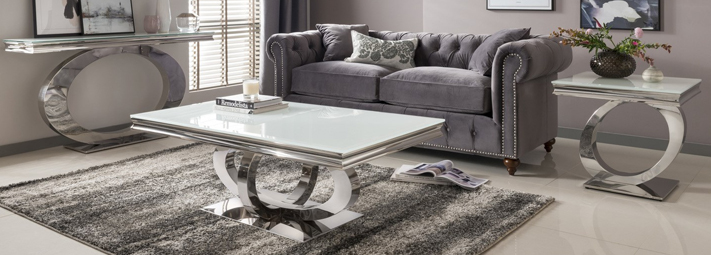 Mirrored and Glass Living Room Collections | Furniture 123
